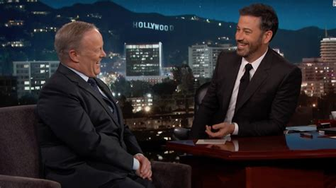 sean spicer on jimmy kimmel jimmy kimmel and sean spicer talk facts trump and
