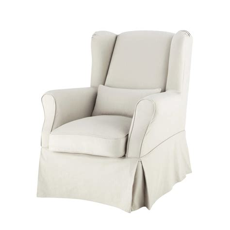 Armchair Covers by Cotton Armchair Cover In Putty Cottage Maisons Du Monde