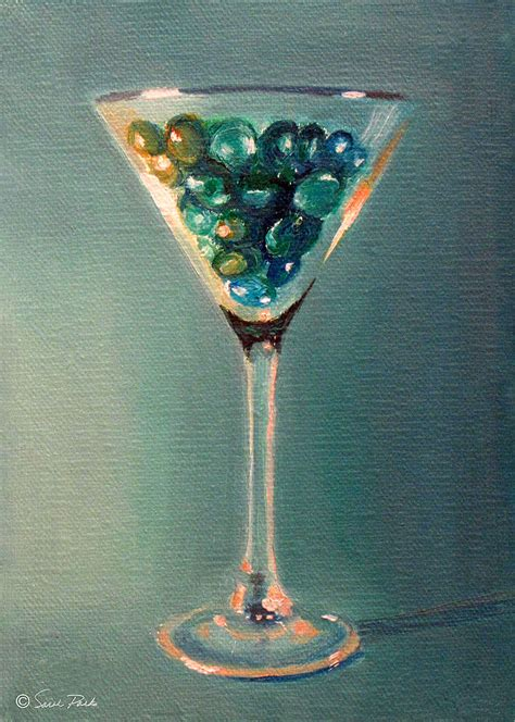 martini glass painting martini glass painting by parks