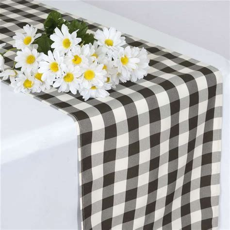 Checkered Table Runner by 20 Checkered Gingham Polyester Table Runners 14 X 108