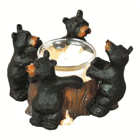 black bear wine bottle holder western rustic home decor ebay rustic candle holders black bear votive holder black