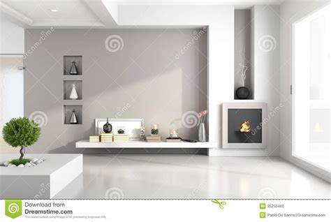 Entertainment Unit Design by Minimalist Living Room With Fireplace Stock Photo Image