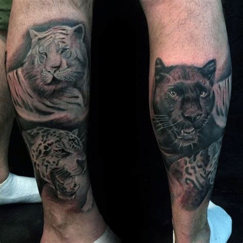 big cat tattoos 60 leopard tattoos for designs with strength and prowess