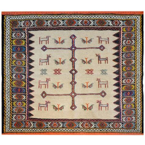 whimsical rug whimsical 20th century sofreh afshar rug for sale at 1stdibs