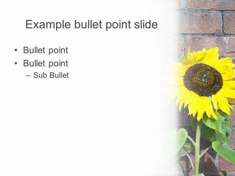 Sunflower Powerpoint Template 2 Sunflower Powerpoint Template