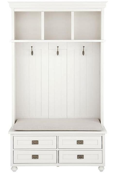 white bench with drawers white four drawer storage bench locker