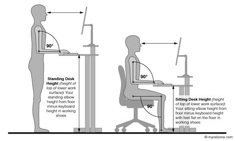 correct height for standing desk ergonomics for standing desks hostgarcia