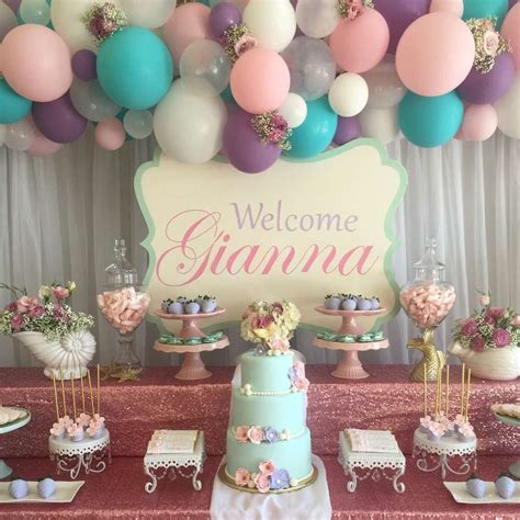 Vintage Themed Baby Shower by Shabby Chic Vintage Mermaid Baby Shower Ideas