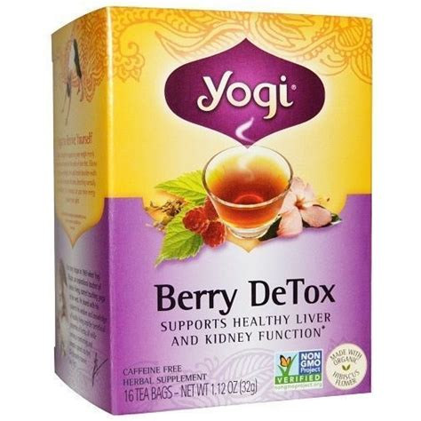 Herbs To Detox Liver And Kidneys by Yogi Organic Herbal Tea Berry Detox Supports Healthy Liver