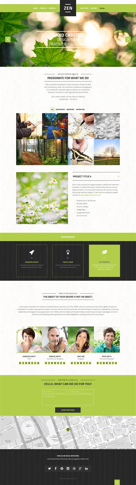 themeforest zen zen multipurpose one page template by magethemes