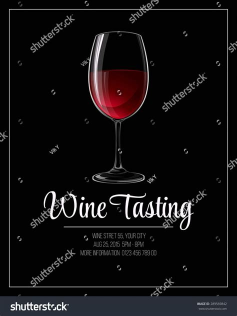 wine tasting flyer template vector illustration stock