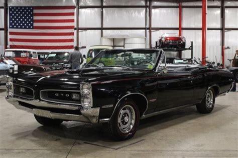 1966 pontiac gto 2491 miles black convertible 389 v8 4 speed manual classic pontiac gto 1966