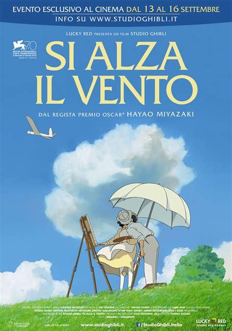 ultimo film ghibli si alza il vento il poster italiano del nuovo film di