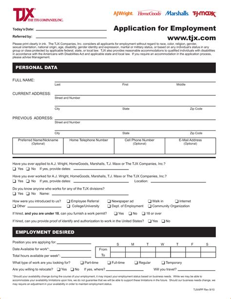 printable job application for save mart 9 application form for job at a store basic job