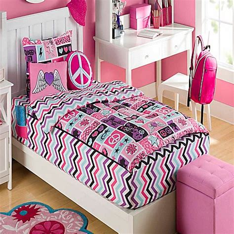 zipit bedding zipit bedding 174 rock princess reversible comforter set in