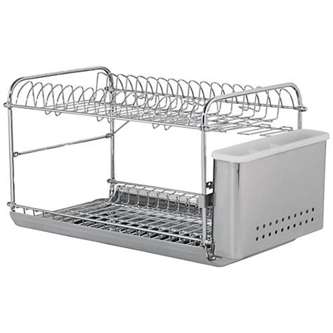 2 Tier Dish Rack Stainless Steel by Lewis 2 Tier Dish And Cutlery Drainer Stainless