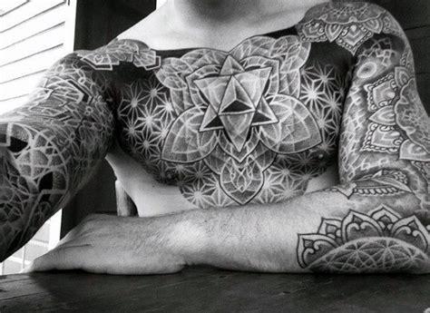 full upper body tattoo designs 60 geometric chest tattoos for men upper body design ideas