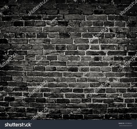 dark wall old dark brick wall texture background stock photo