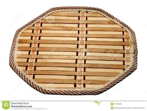 bamboo kitchen trivet stock photo image  abstract