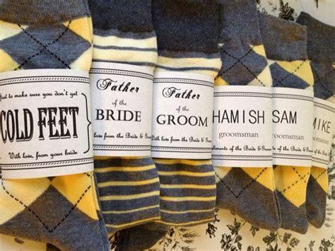 solid grey w yellow toe groomsmen socks by http