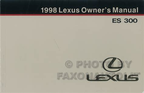 lexus es 300 2007 repair manual cars repair manuals 1998 lexus es 300 owners manual original