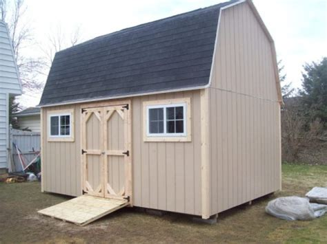 Gambrel Roof Shed Plans 12×16