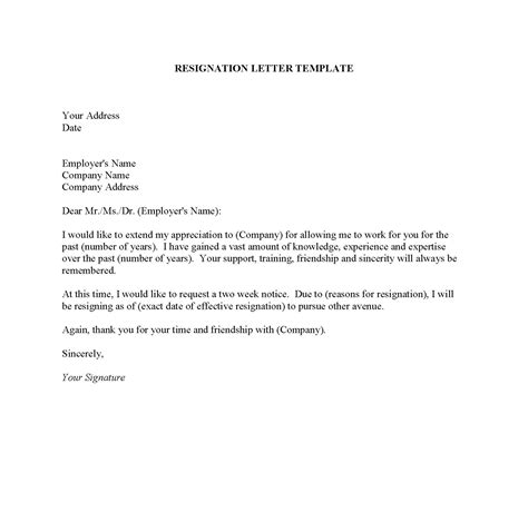 template notice letter template