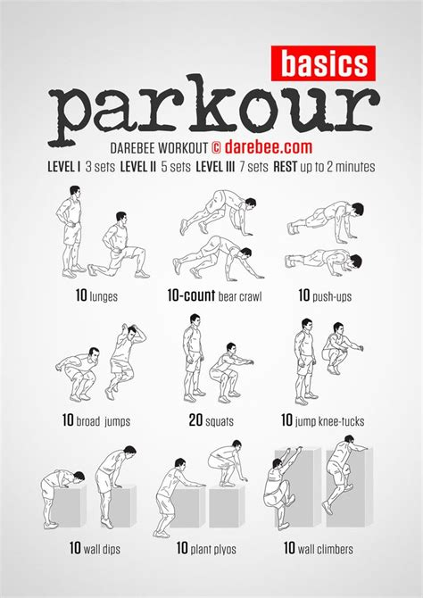 parkour darebee workout exercises
