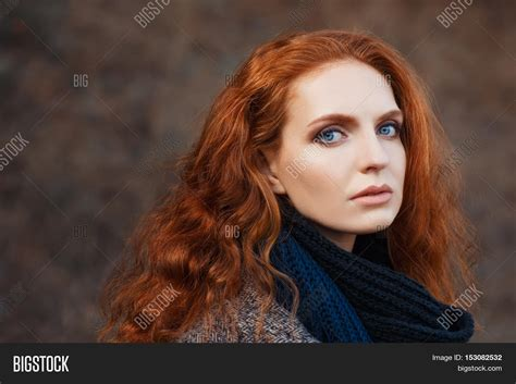 red public hair pictures female close portrait beautiful woman red image photo bigstock