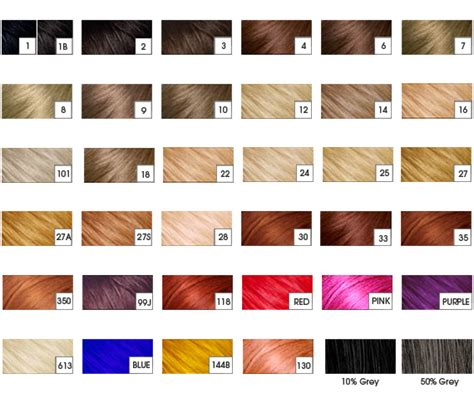 raw hair dye color chart color chart