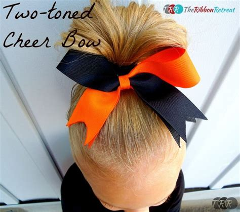 hairbows with ribbon sculpture pinterest two toned cheer bow the ribbon retreat blog craft