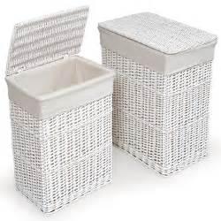 small laundry hamper with lid large medium rectangular white wicker laundry basket w
