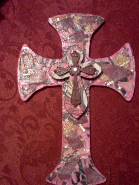 How To Make A Door Out Of Paper - make a paper mache cross to hang by your bedroom door as a