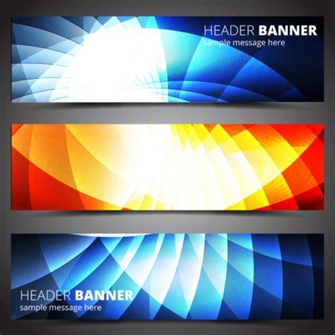 web design header background header banner design sets on light effect background