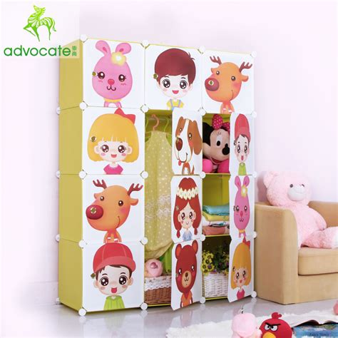 Lemari Pakaian Lipat advocating sederhana lemari pakaian kartun anak anak mainan lemari penyimpanan modern