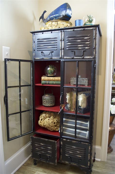 Locker Furniture by Black Metal Locker With Interior Home Decor Home