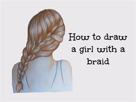 how to do doodle braids drawing of a with a braid www pixshark images