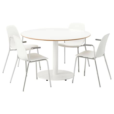 desk and chair set ikea billsta leifarne table and 4 chairs white white 118 cm ikea