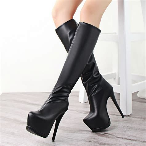 Platform High Heel Boots   Is Heel