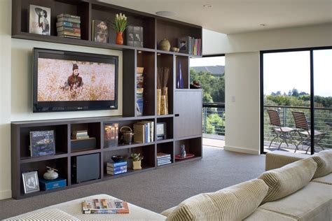 Entertainment center decorating ideas family room contemporary with media storage entertainment