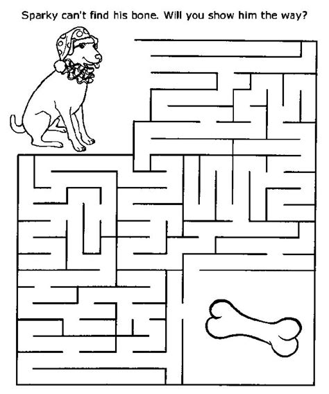 free printable maze games for toddlers printable mazes print your maze dog find bone puzzle