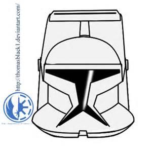 Star Wars Clone Helmet Drawings Sketch Coloring Page sketch template