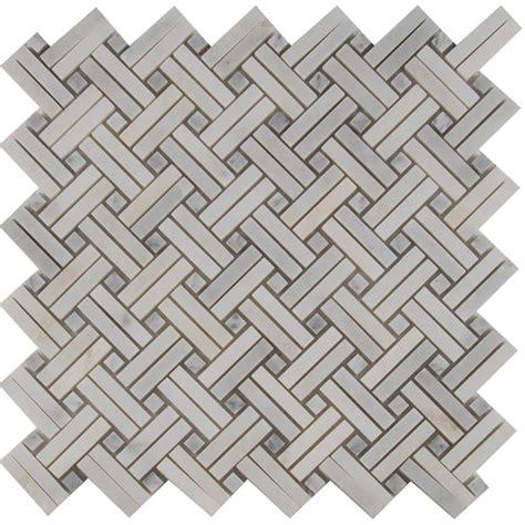 basket weave tile ms international greecian white basketweave 12 in x 12 in
