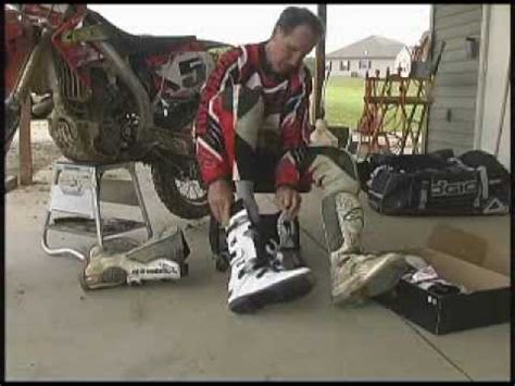 how to break in motocross boots how to break in new motocross boots by gary semics youtube