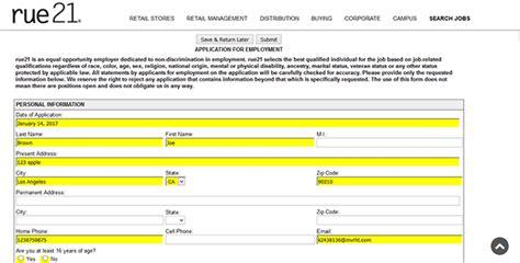 rue21 job application apply online