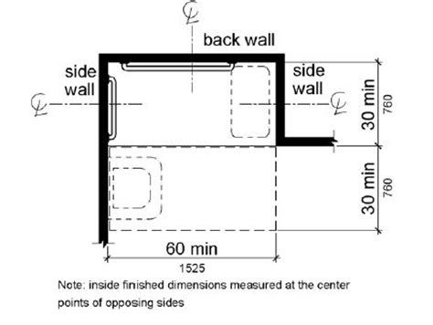 toilet compartment layout a plan view shows the shower compartment is 30 inches 760