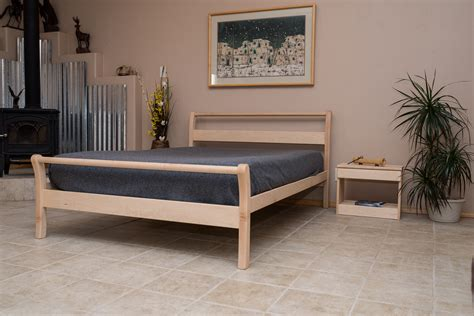 organic bed frames organic bedroom untreated solid wood bed frame sleigh