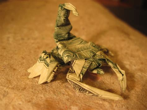 How To Make An Origami Scorpion Step By Step - dollar origami won park scorpion steps 16 22 not