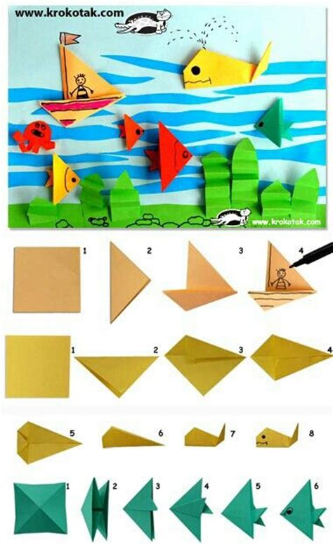 Origami Fish Step By Step - 25 best ideas about origami fish on origami