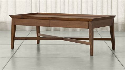 crate and barrel coffee table bradley walnut coffee table with drawers crate and barrel